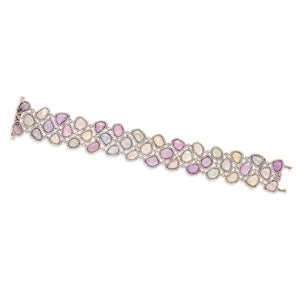 Multi-Color Sapphire and Diamond Bracelet