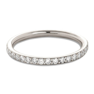 White Gold Bead Set Eternity Band