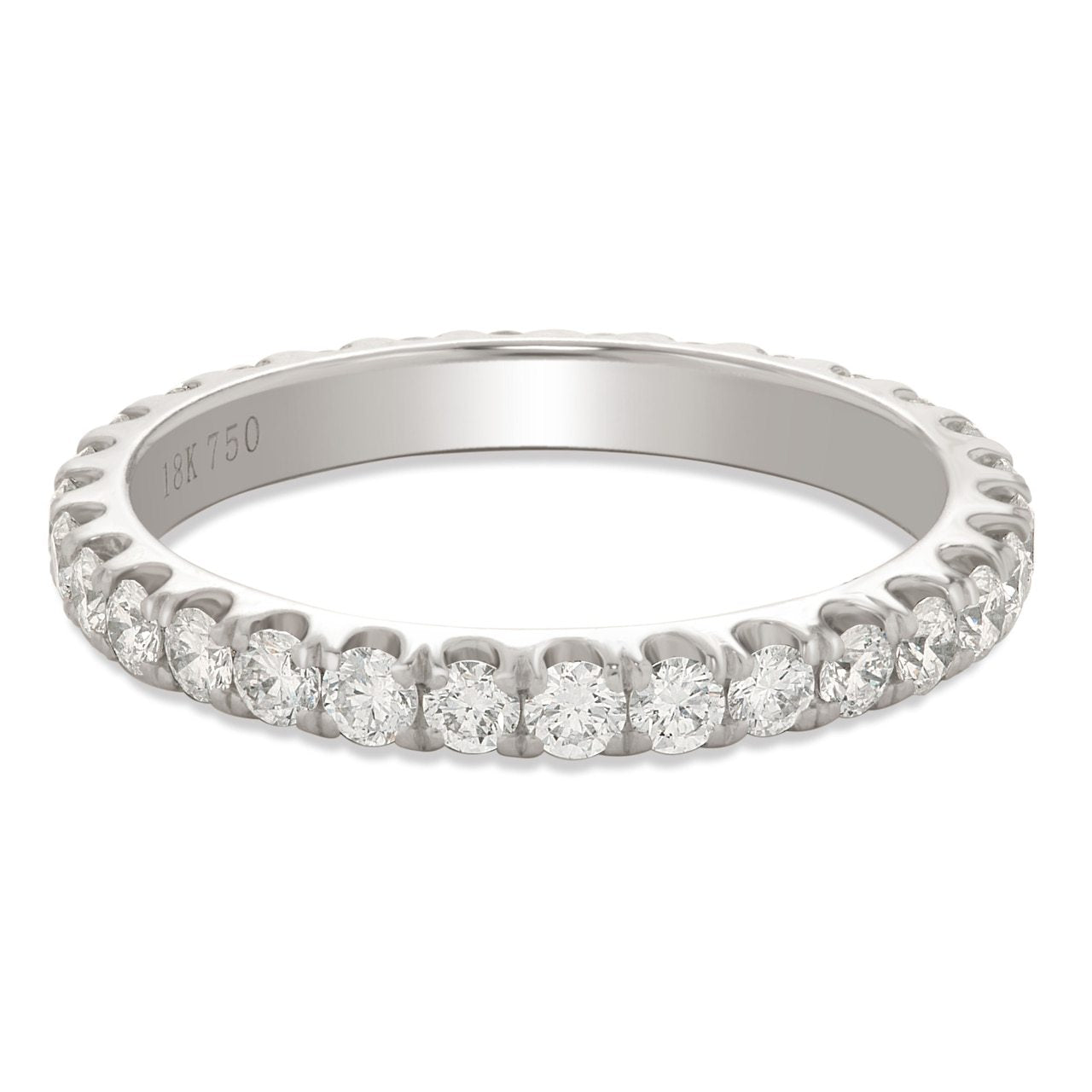 White Gold Diamond Shared Prong Eternity Band