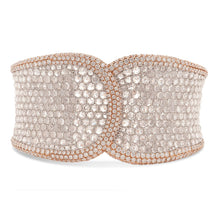 Load image into Gallery viewer, Rose Cut Wide Diamond Cuff