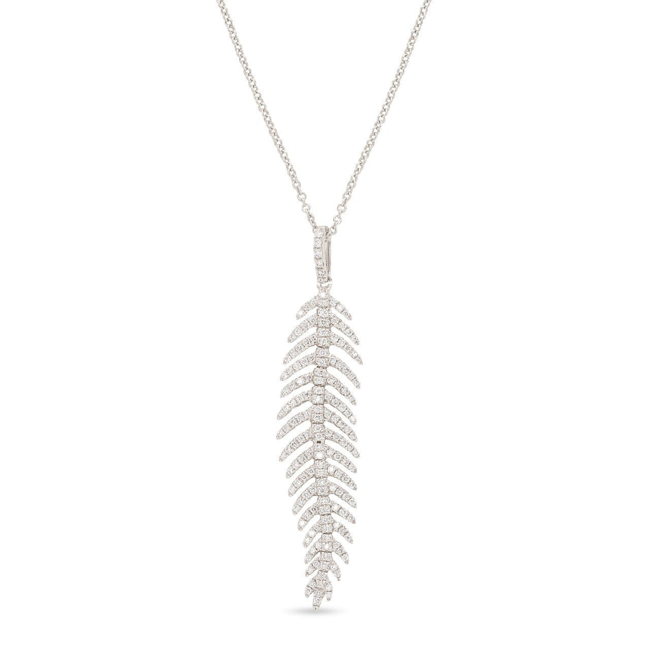 Small Feather Diamond Pendant