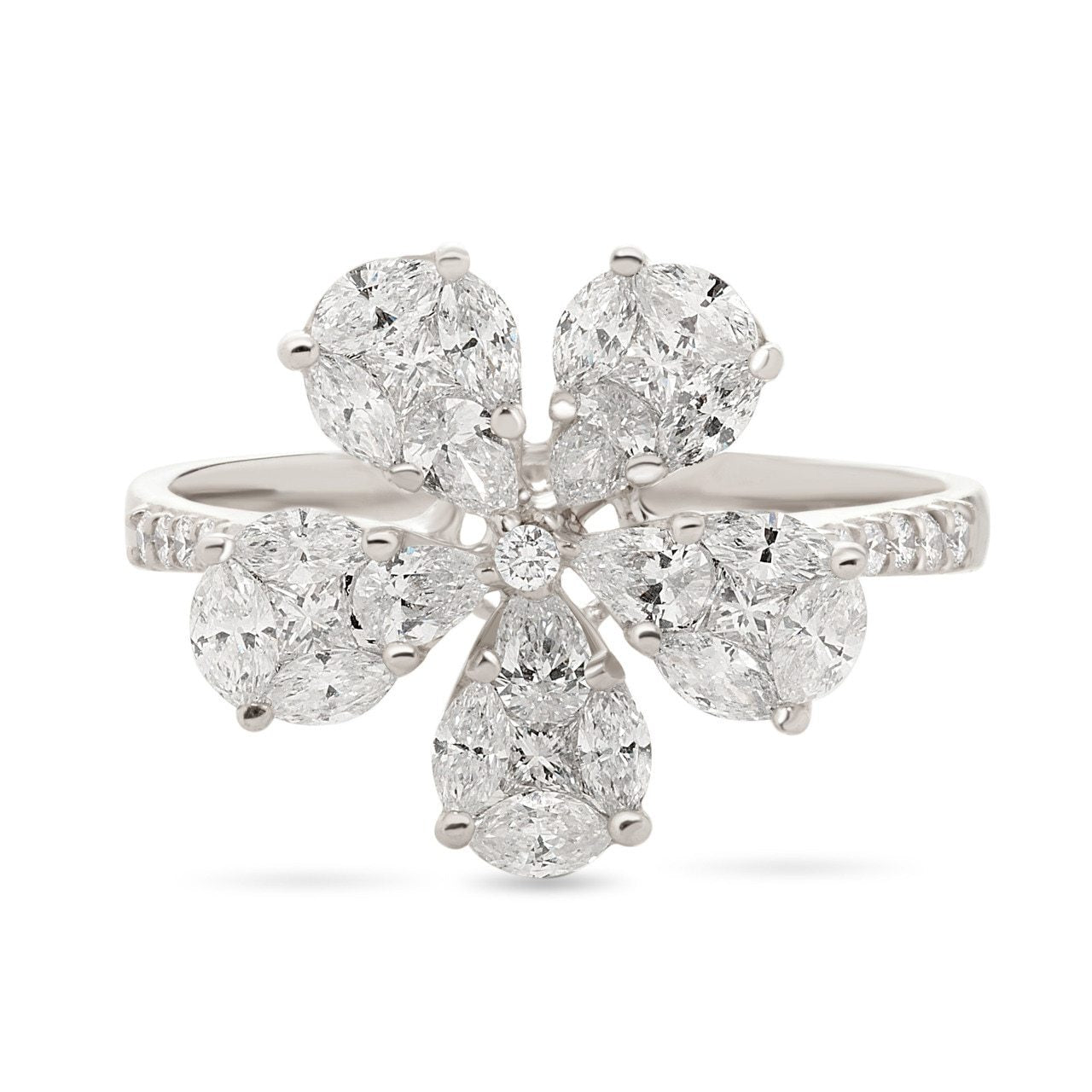 Diamond Flower Illusion Ring