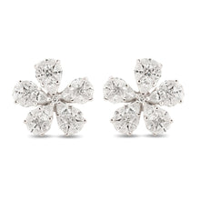 Load image into Gallery viewer, Diamond Flower Illusion Earrings
