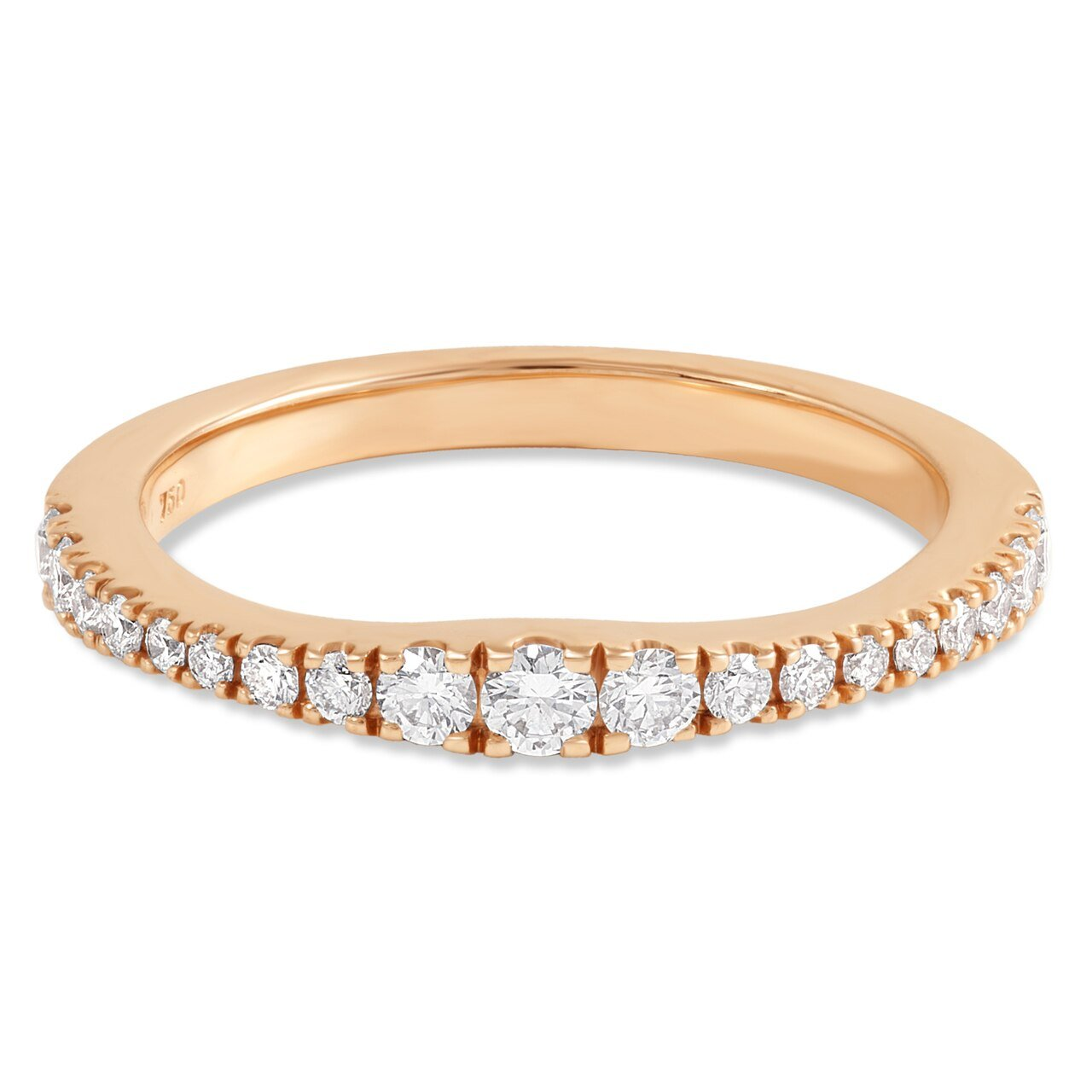 Rose Gold Graduated Round Diamond Band