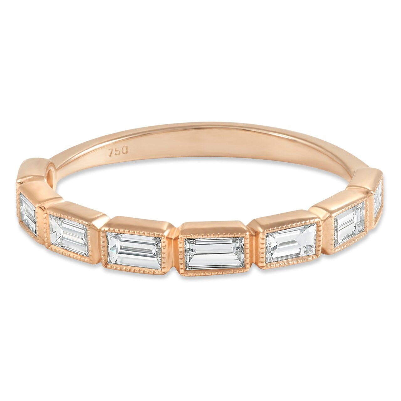 Rose Gold Baguette Band