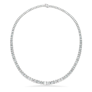 Platinum Emerald Cut Necklace