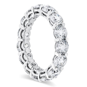 Platinum Round Diamond Shared Prong Eternity Band