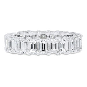 Shared Prong Emerald Cut Band