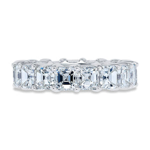 Shared Prong Asscher Cut Diamond Band