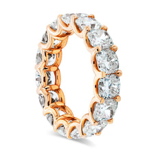 Load image into Gallery viewer, Rose Gold Cushion Cut Eternity Band
