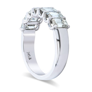 7 Stone Emerald Cut Diamond Band