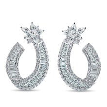"Load image into Gallery viewer, Diamond ""Shooting Star"" Earrings"
