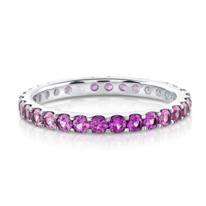 Pink Sapphire Ombre Eternity Ring