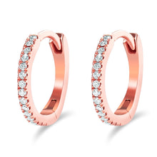 Load image into Gallery viewer, 14K Gold Mini Diamond Hoops