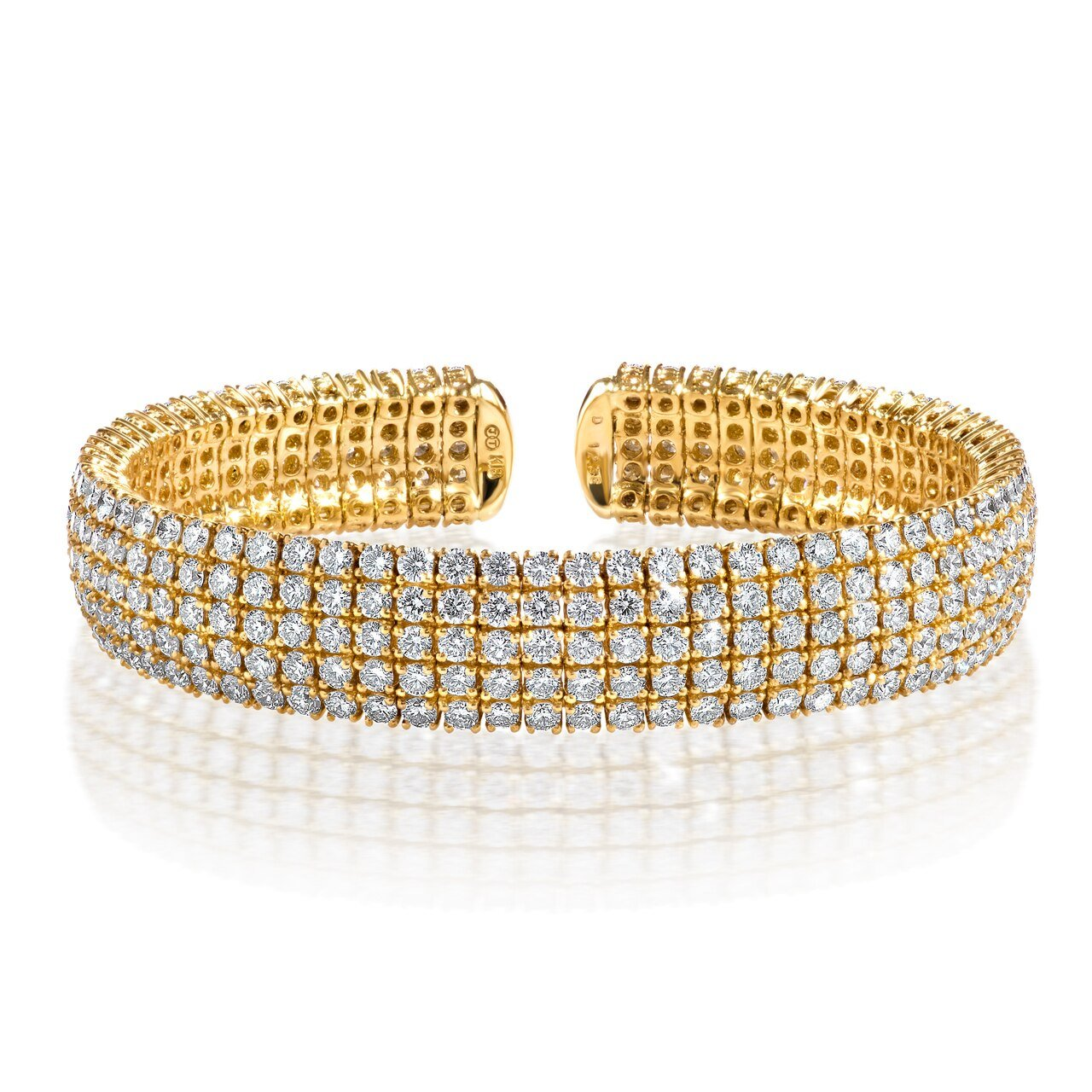 Five Row Diamond Flex Bangle
