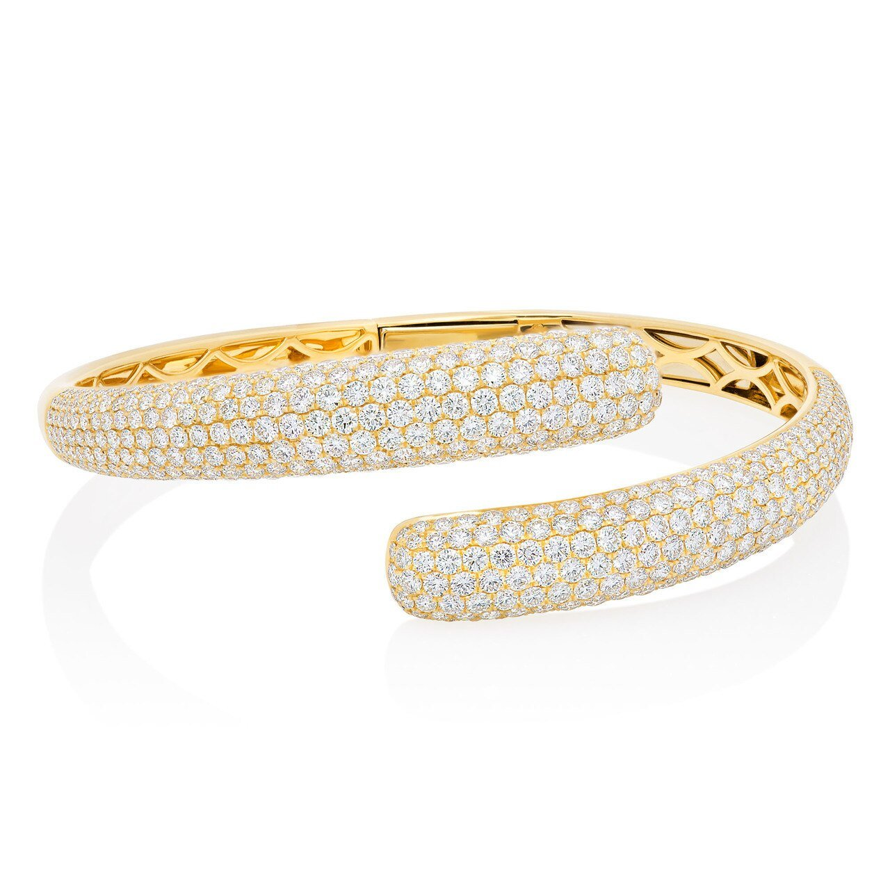 Pave Diamond Cuff Bangle Bracelet