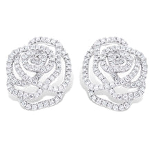Load image into Gallery viewer, Diamond Rose Earrings