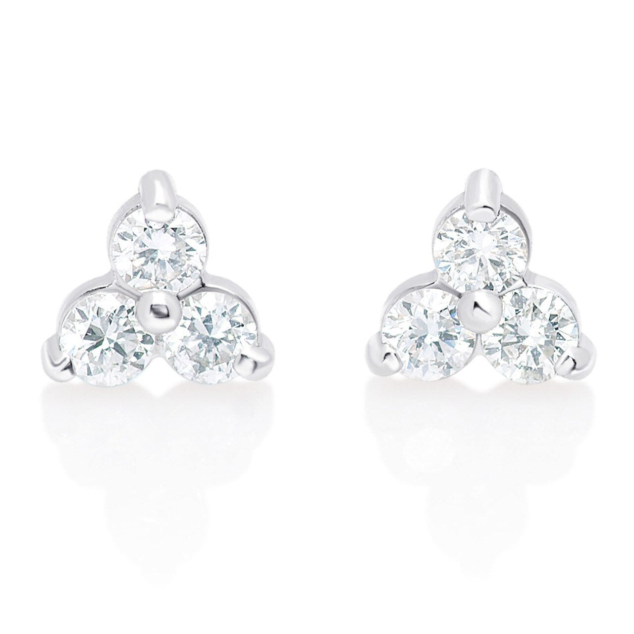 Triple Diamond Cluster Studs