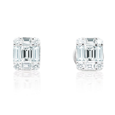 Diamond Illusion Stud Earrings
