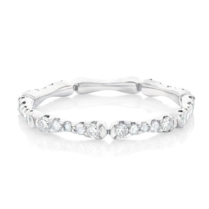 Rose Cut and Round Diamond Band