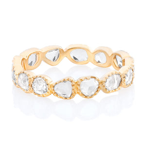 Rose Cut Eternity Band With Beaded Edge