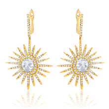 Load image into Gallery viewer, Diamond Sunburst Earrings