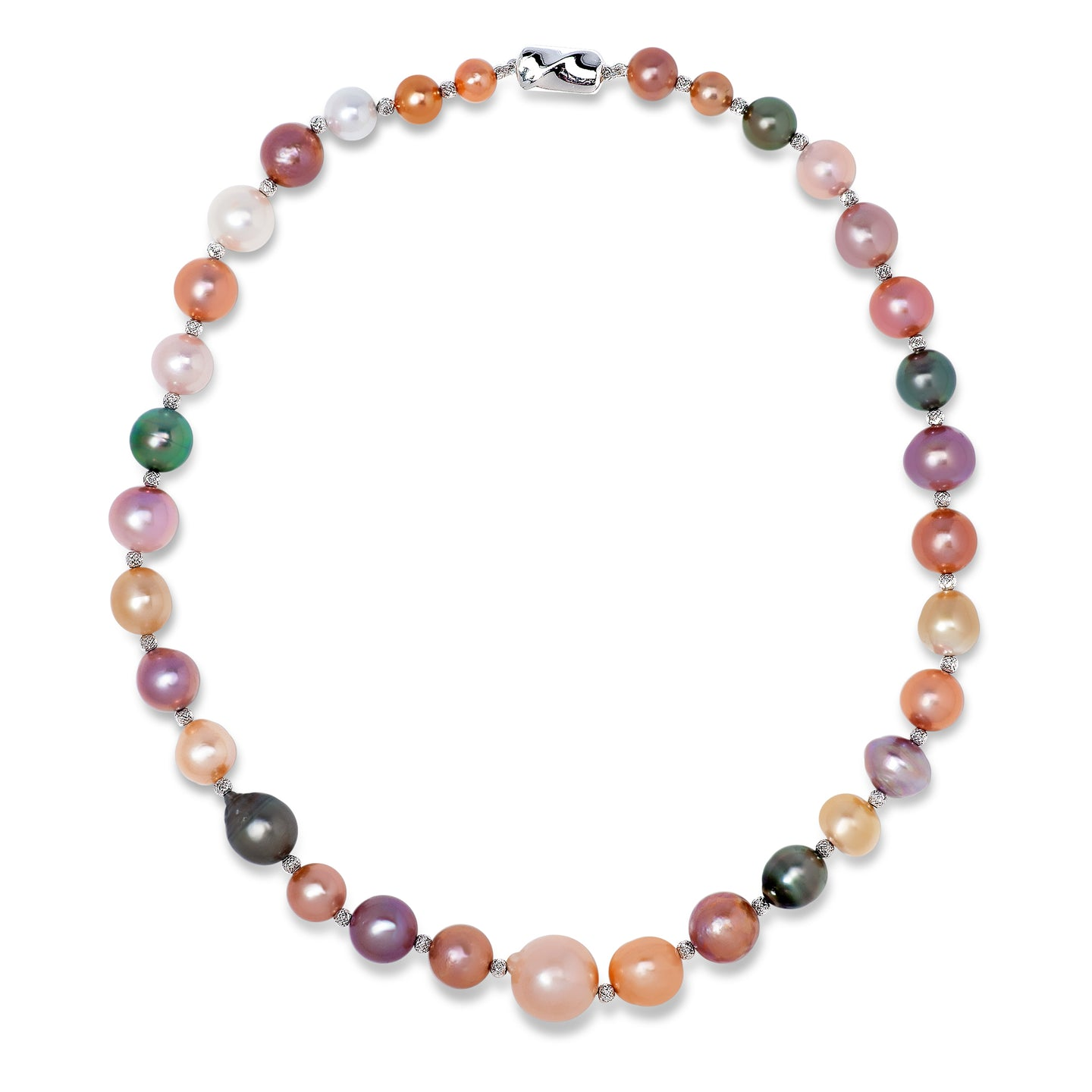 Multi Color Natural Pearl Necklace