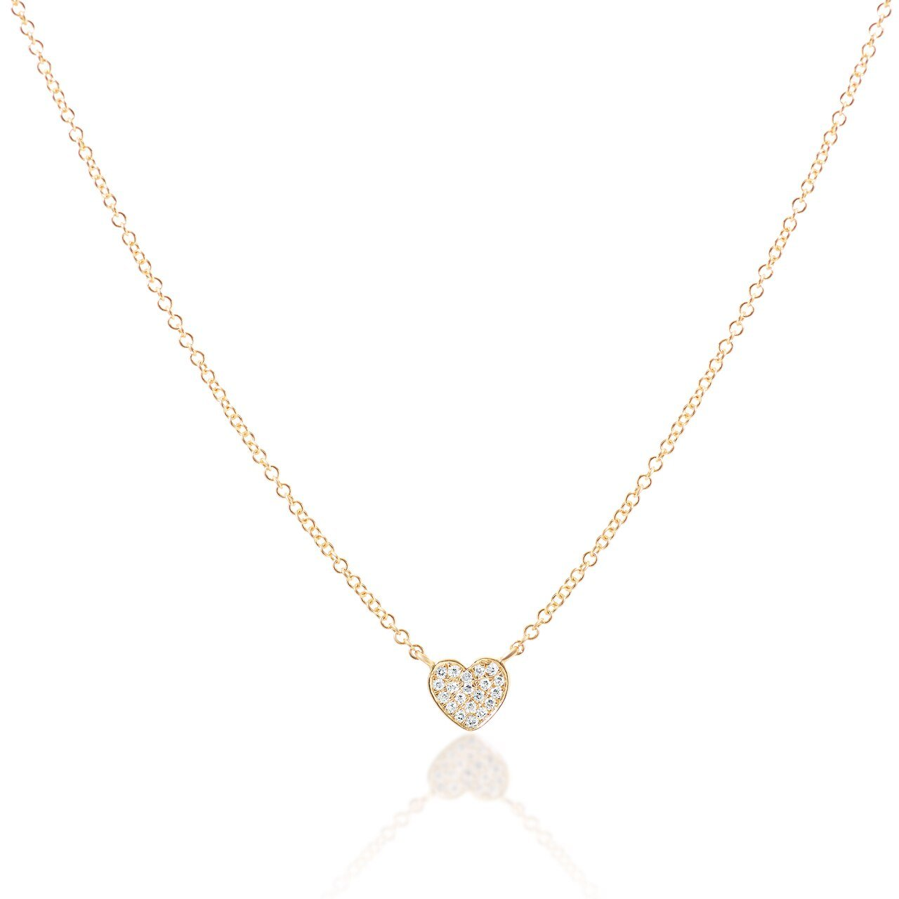 Mini Diamond Heart Pendant