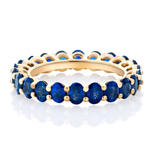 Blue Sapphire Oval Band