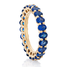 Load image into Gallery viewer, Blue Sapphire Oval Band