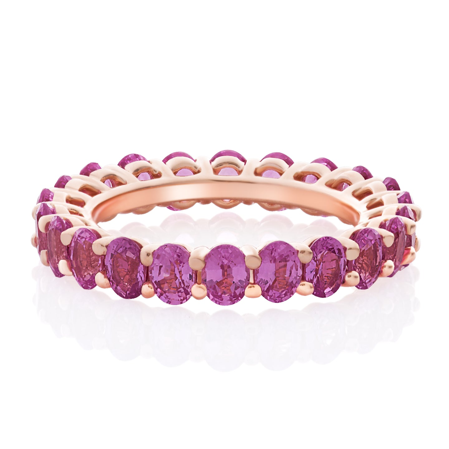 Pink Sapphire Oval Band