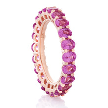 Load image into Gallery viewer, Pink Sapphire Oval Band