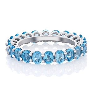 Aquamarine Oval Band