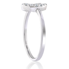 Load image into Gallery viewer, Diamond Horse Shoe Ring