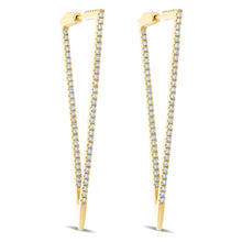 Load image into Gallery viewer, Diamond Triangle Earrings