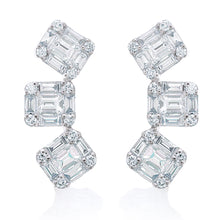 Load image into Gallery viewer, Illusion Diamond Ear Climber Earrings