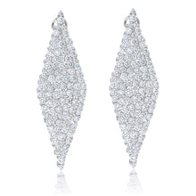 Load image into Gallery viewer, Diamond Shape Hanging Earrings