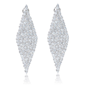 Diamond Shape Hanging Earrings