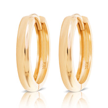 Load image into Gallery viewer, Small Yellow Gold Huggie Hoop Earring