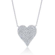 Load image into Gallery viewer, Pave Diamond Heart Pendant