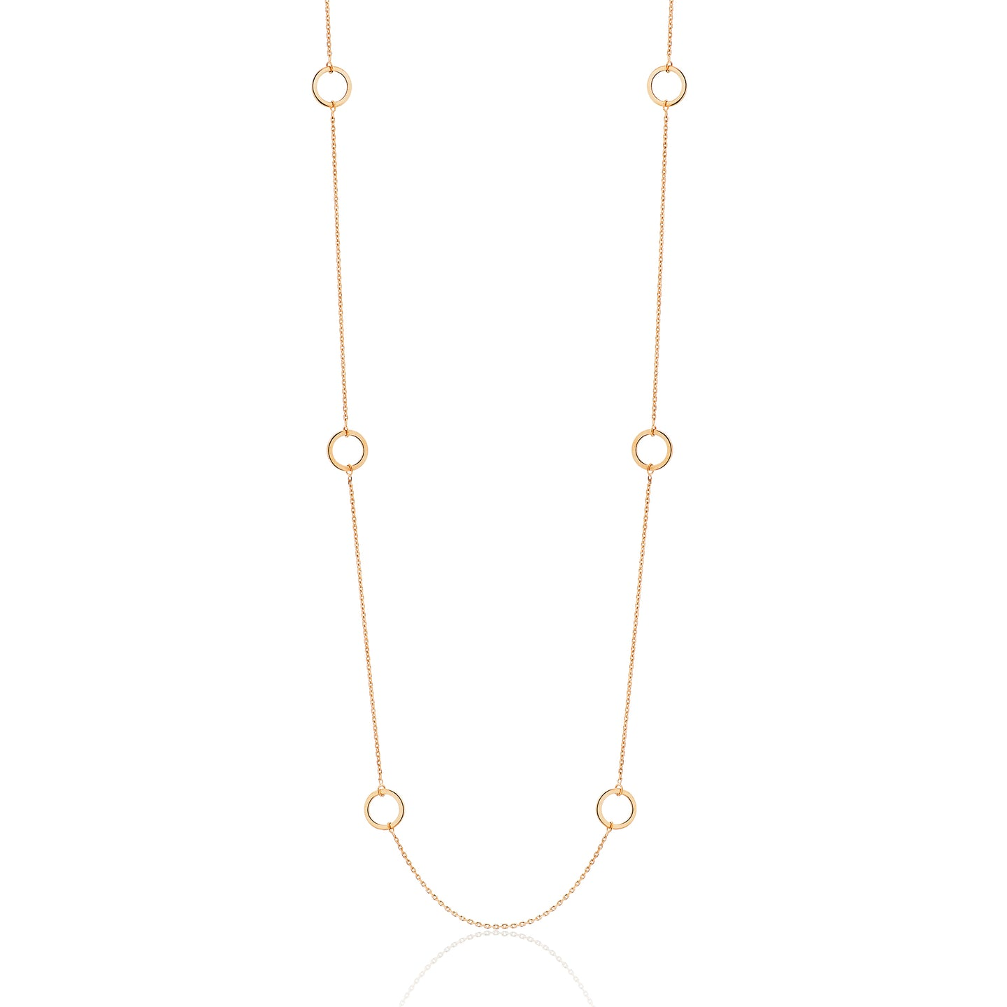 Gold Open Circle Chain
