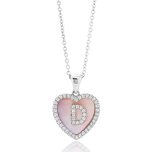 Load image into Gallery viewer, Diamond Heart Mother of Pearl Pendant