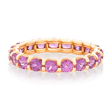 Load image into Gallery viewer, Round Pink Sapphire Shared Prong Eternity Band