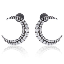 Load image into Gallery viewer, Diamond Crescent Moon Earrings