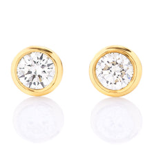 Load image into Gallery viewer, Petite Bezel Set Diamond Stud