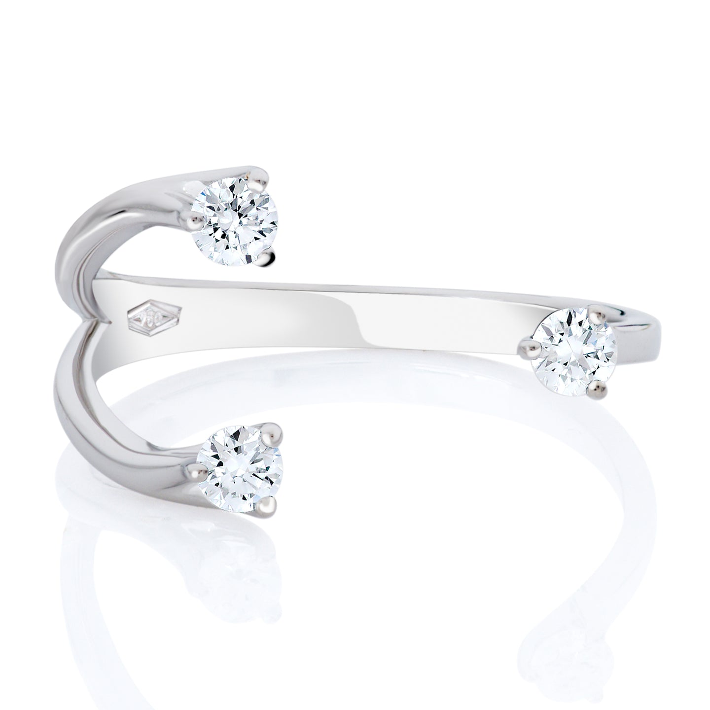Small Diamond Orbit Ring