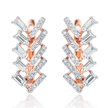 Load image into Gallery viewer, Baguette and Round Diamond Earrings