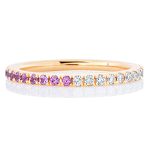 Load image into Gallery viewer, Half Pink Sapphire and Diamond Band