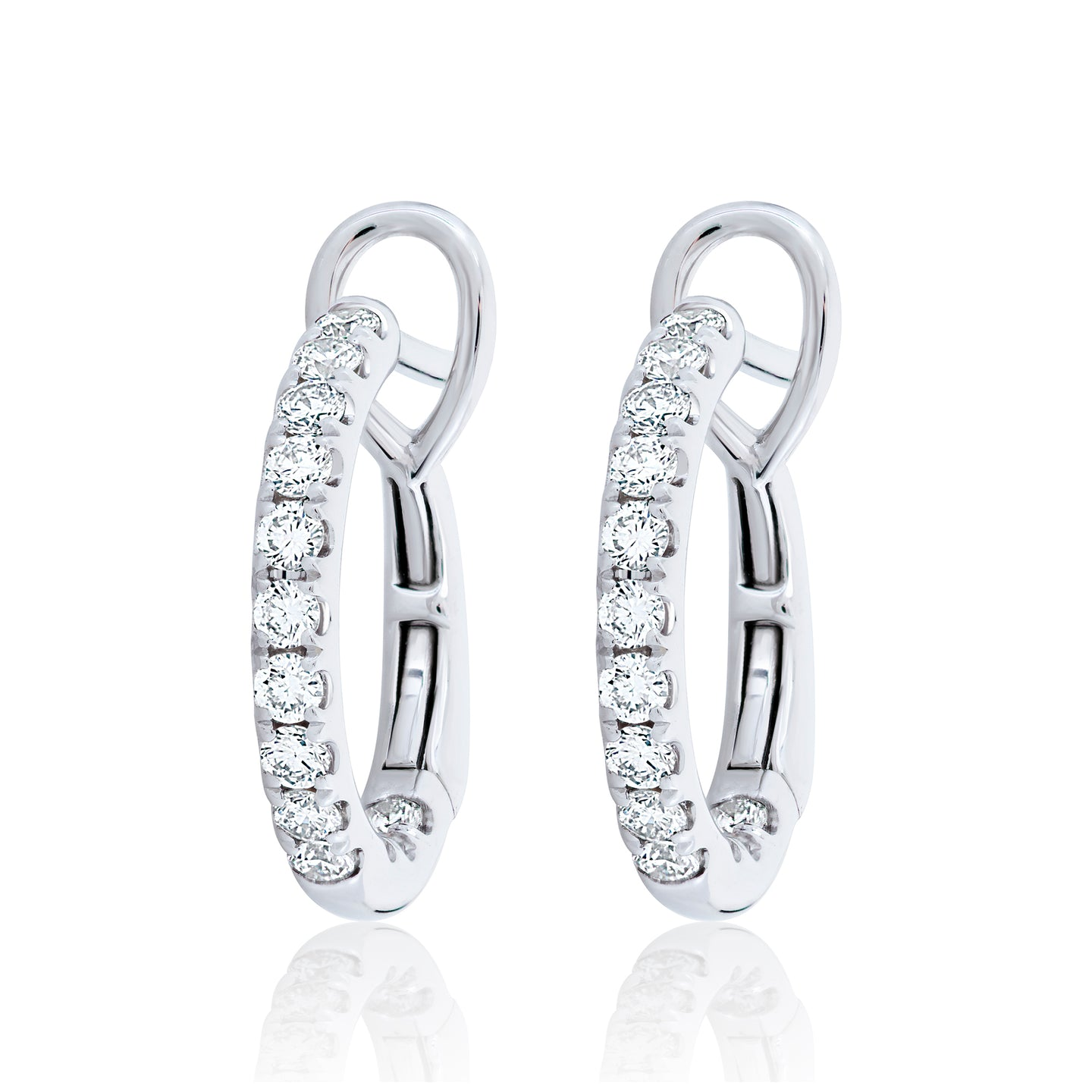 Small Diamond Hoop Earrings