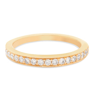 Rose Gold Half Way Diamond Band
